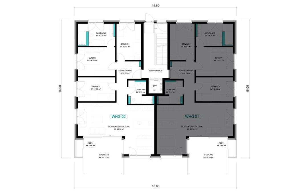 4 1/2 Wohnung EG – WHG 02