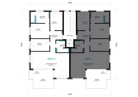 4 1/2 Wohnung OG – WHG 12