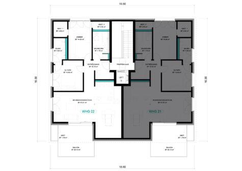 3 1/2 Wohnung DG – WHG 22