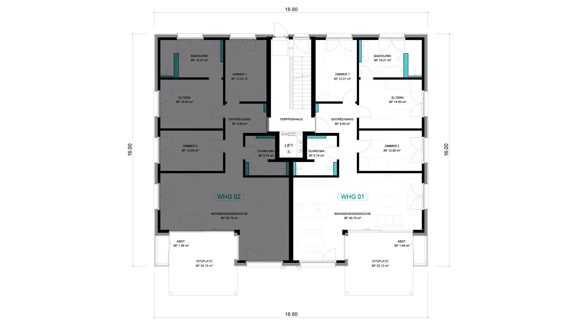 4 1/2 Wohnung EG – WHG 01